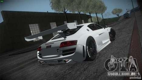 Audi R8 LMS para GTA San Andreas vista traseira