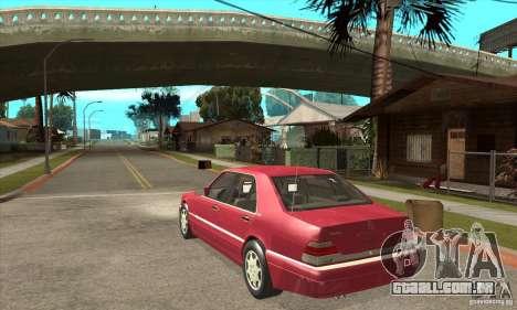 Mercedes-Benz S600 1999 para GTA San Andreas vista direita