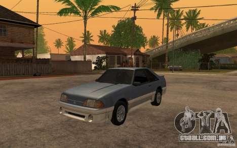 Ford Mustang GT 5.0 1993 para GTA San Andreas esquerda vista
