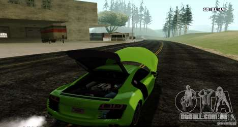 Audi R8 Light Tuned Version para GTA San Andreas traseira esquerda vista