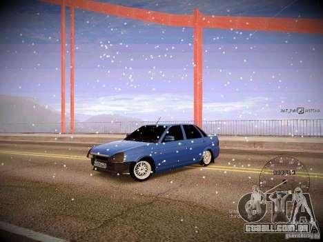 Lada Priora Turbo v2.0 para GTA San Andreas traseira esquerda vista