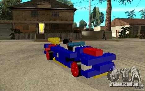 Móveis de LEGO para GTA San Andreas vista traseira