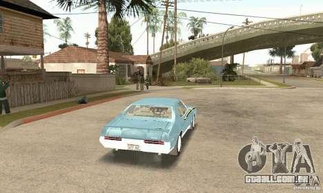 Pontiac GTO The Judge para GTA San Andreas esquerda vista