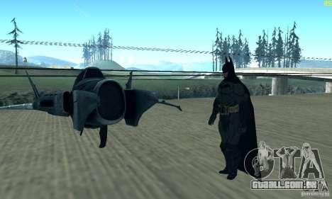 BatWing para GTA San Andreas vista traseira