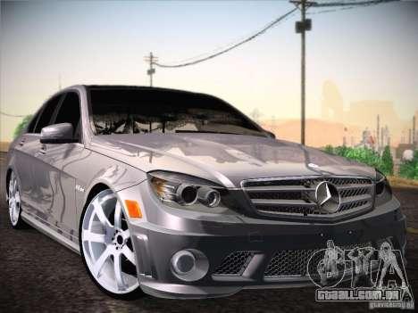 Mercedes-Benz S63 AMG para GTA San Andreas traseira esquerda vista