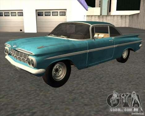 Chevrolet Impala Coupe 1959 Used para GTA San Andreas