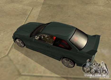 BMW E36 Coupe para GTA San Andreas esquerda vista
