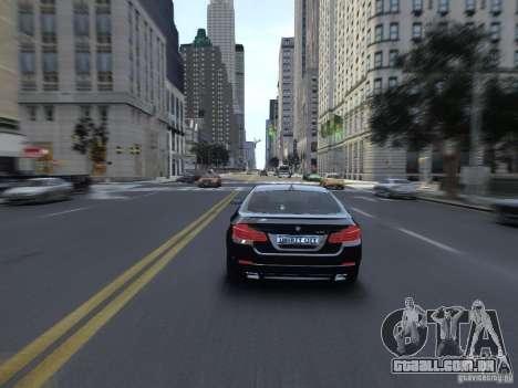 BMW 550i F10 para GTA 4 vista direita