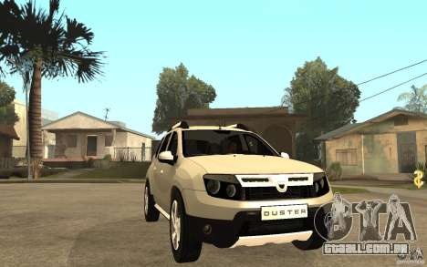 Dacia Duster 2010 SUV 4x4 para GTA San Andreas vista traseira