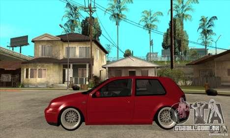 VW Golf 4 V6 Bolf para GTA San Andreas esquerda vista