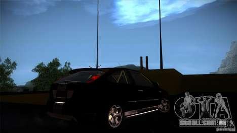 Ford Focus 2 Coupe para GTA San Andreas vista traseira