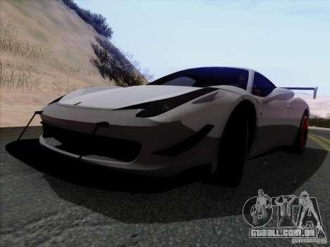 Ferrari 458 Italia Tuned para GTA San Andreas vista traseira