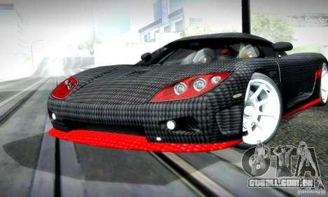 Koenigsegg CCX para GTA San Andreas esquerda vista