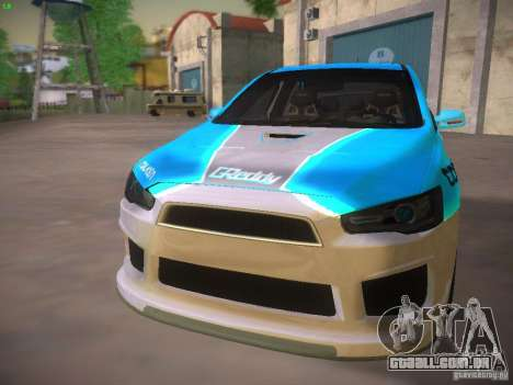 Mitsubishi Lancer Evo X Tunable para as rodas de GTA San Andreas