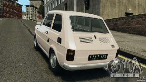 Fiat 126 Classic para GTA 4 traseira esquerda vista