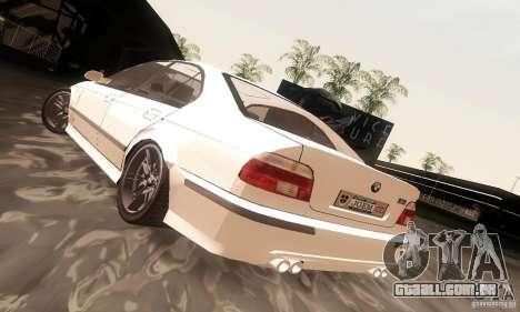 BMW M5 para GTA San Andreas esquerda vista