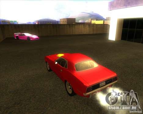 Plymouth Hemi Cuda para GTA San Andreas traseira esquerda vista