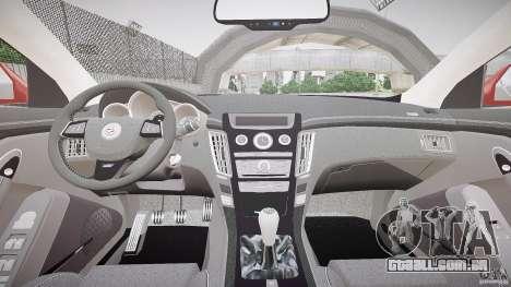 Cadillac CTS-V Coupe para GTA 4 vista de volta