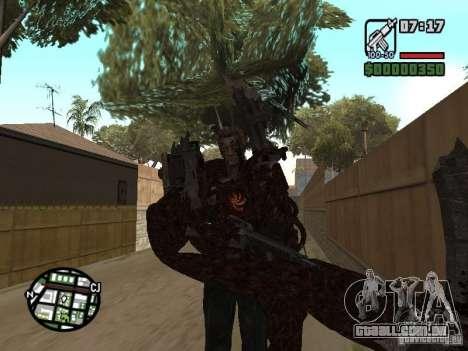 Wesker Ouroboros para GTA San Andreas quinto tela