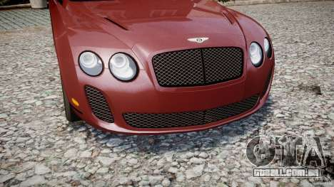 Bentley Continental SS v2.1 para GTA 4 vista lateral