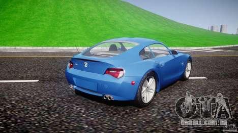 BMW Z4 Coupe v1.0 para GTA 4 esquerda vista