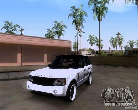 Range Rover Hamann Edition para GTA San Andreas vista direita