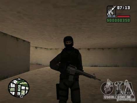 Umbrella soldier para GTA San Andreas por diante tela