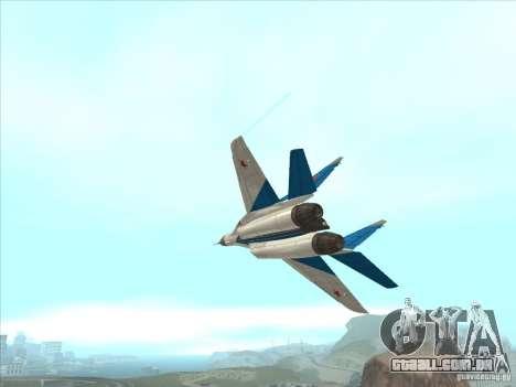 MiG-29 os andorinhões para GTA San Andreas vista interior
