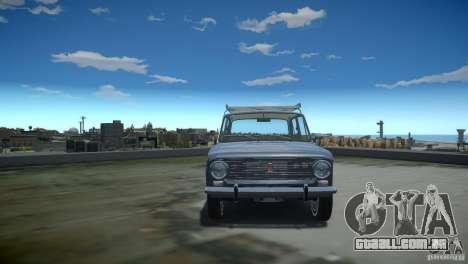 Estoque de 2101 VAZ para GTA 4 vista interior
