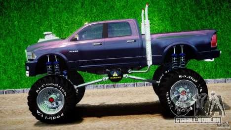 Dodge Ram 3500 2010 Monster Bigfut para GTA 4 esquerda vista
