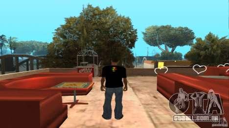 Camiseta Bob Marley para GTA San Andreas segunda tela