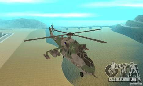 Um helicóptero do conflito de Shtorm Global para GTA San Andreas vista traseira
