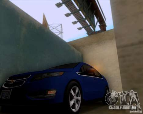 Chevrolet Volt 2012 Stock para GTA San Andreas vista traseira