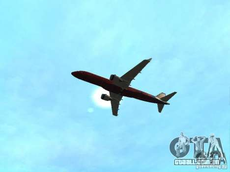 Embraer ERJ 190 Virgin Blue para GTA San Andreas vista interior