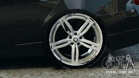 BMW 330i E92 para GTA 4 vista superior