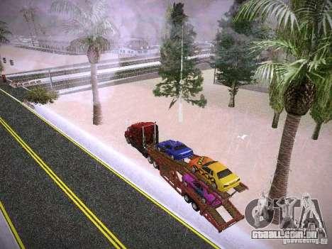 Auto transporte reboque para GTA San Andreas vista interior
