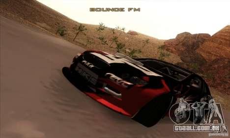 BMW M3 E92 Tuned v2 para GTA San Andreas vista traseira