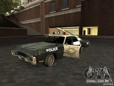 Dodge Polara Police 1971 para GTA San Andreas vista interior