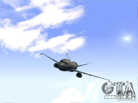 Boeing 737 Iron Man Bussines Jet para GTA San Andreas vista direita