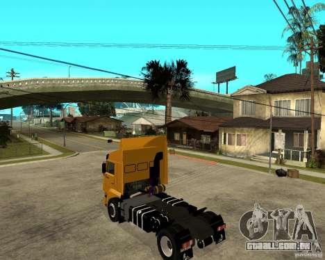 KAMAZ 5460M TAI versão 1.5 para GTA San Andreas esquerda vista