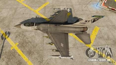 F-16C Fighting Falcon para GTA 4 vista direita