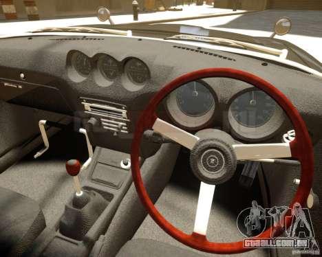 Nissan Fairlady Z HS30-240Z para GTA 4 vista de volta