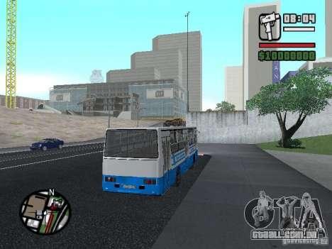 Segurança Ikarus 260 para GTA San Andreas vista traseira