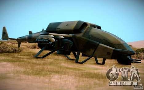 Type 4 Doragon para GTA San Andreas traseira esquerda vista