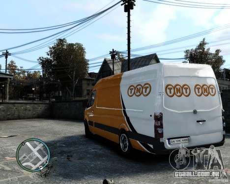Volkswagen Crafter TNT para GTA 4 vista direita