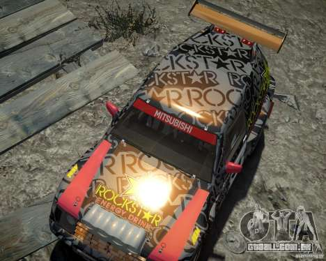 Mitsubishi Pajero Proto Dakar EK86 vinil 1 para GTA 4 vista lateral