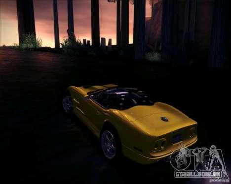 Shelby Series One 1998 para GTA San Andreas vista interior