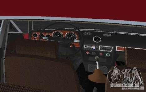 VAZ 2106 para GTA Vice City vista superior