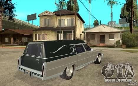 Cadillac Fleetwood 1985 Hearse Tuned para GTA San Andreas vista direita
