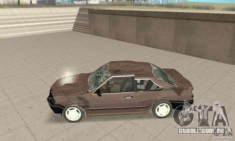 Volkswagen Santana GLS 1989 para GTA San Andreas vista inferior